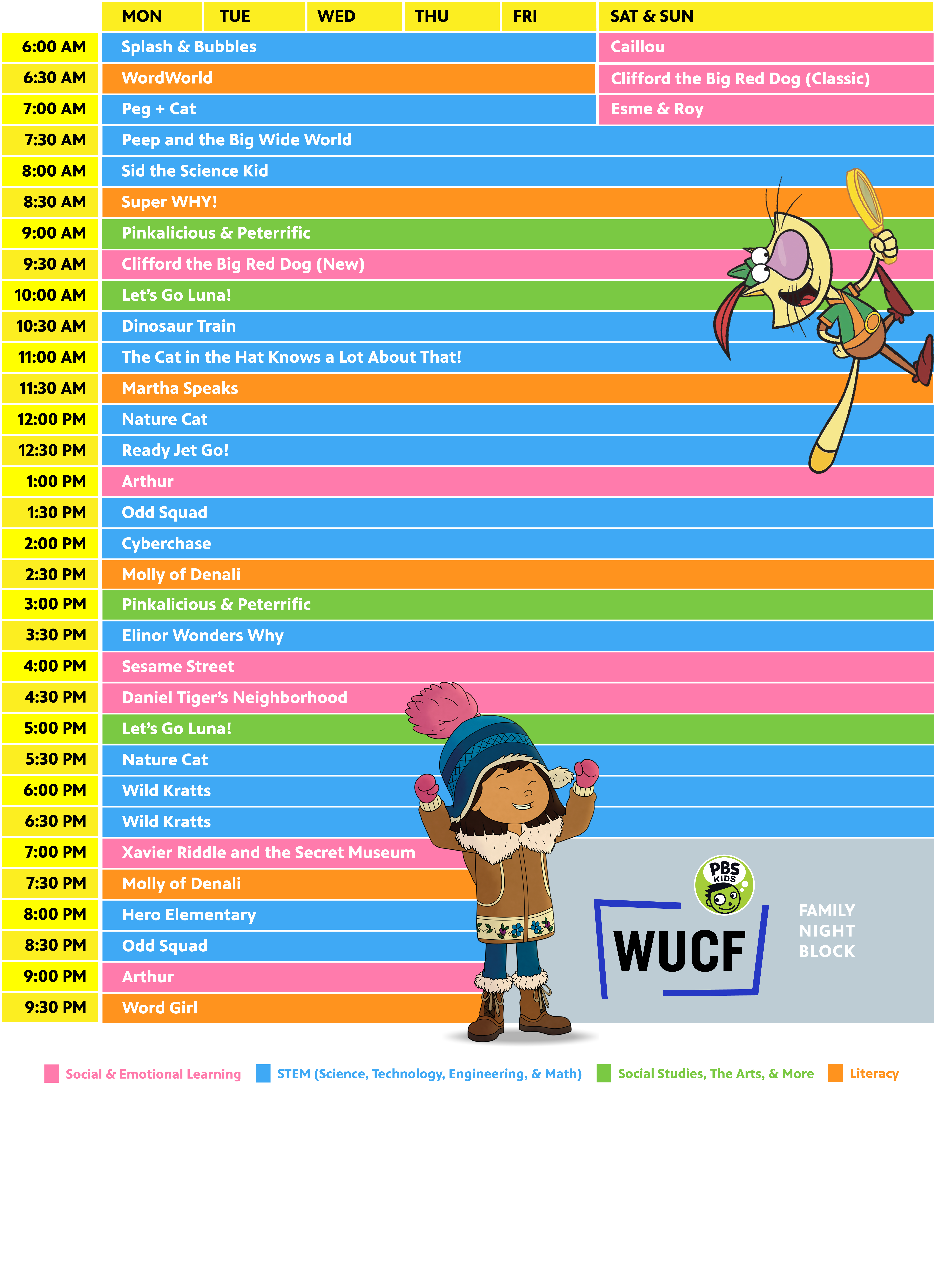 WUCF 24/7 Kids Scheduled 2019