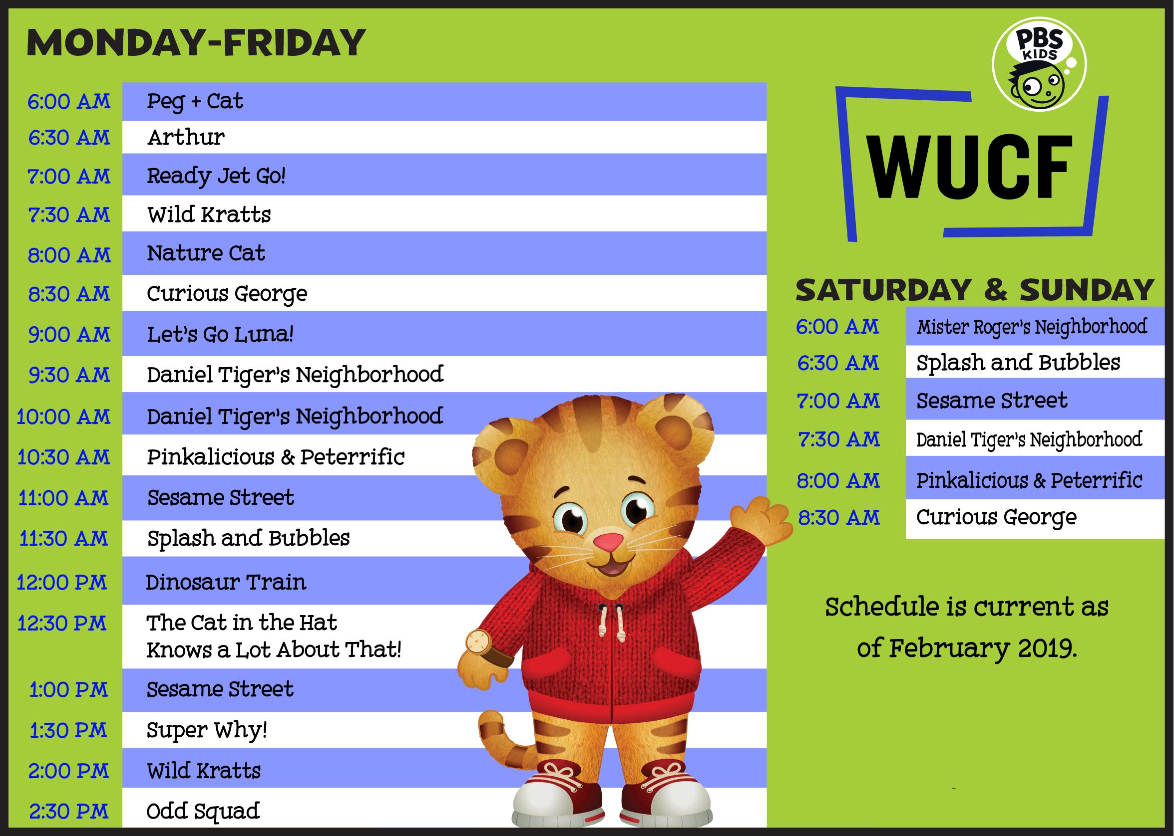 WUCF Kids Schedule 2019