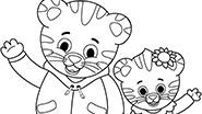 Daniel and Margaret Coloring Page