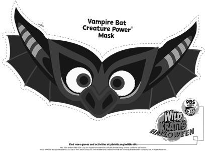 Wild Kratts Bat Mask