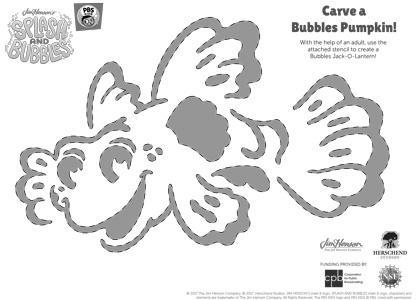Splash & Bubbles Pumpkin Carving Template