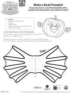 Dunk Pumpkin Template