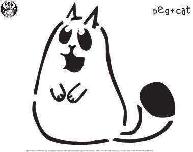 Peg + Cat Pumpkin Carving Template