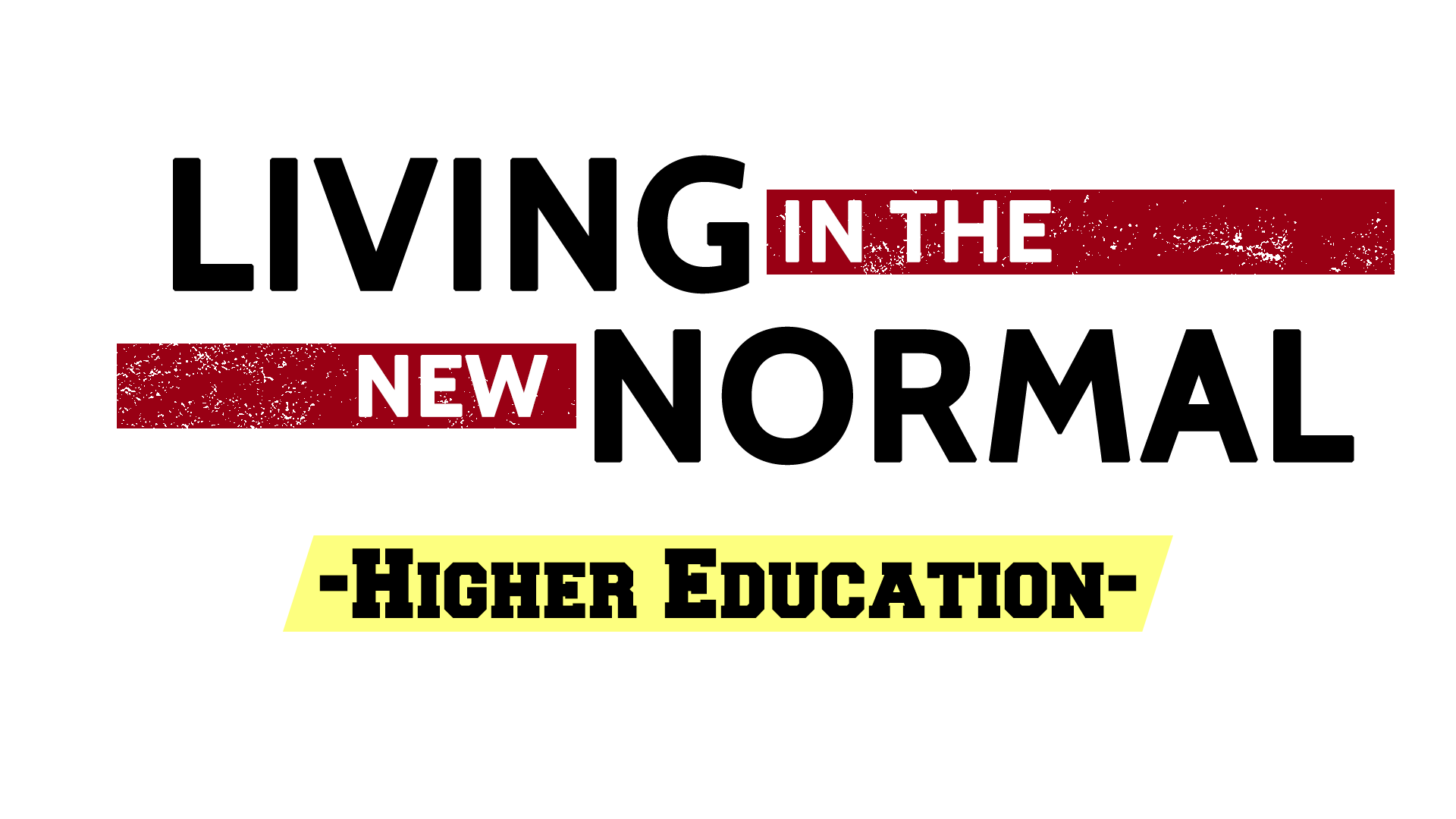 Living in the New Normal: Higher Education