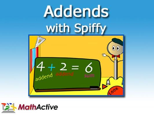 Addends with Spiffy | Math Active