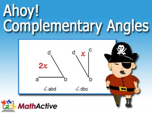 Ahoy! Complementary Angles | Math Active