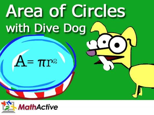 Area of Circles with Dive Dog | Math Active