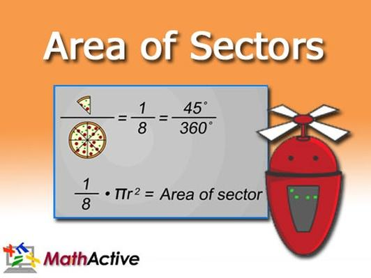 Area of Sectors | Math Active