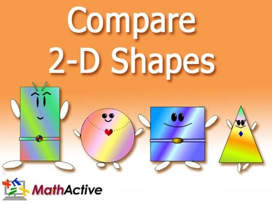 Compare 2-D Shapes (English Voice)