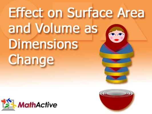Effect on Surface Area and Volume as Dimensions Change