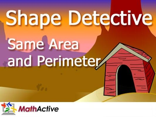 Same Area and Perimeter: Shape Detective | English Voice