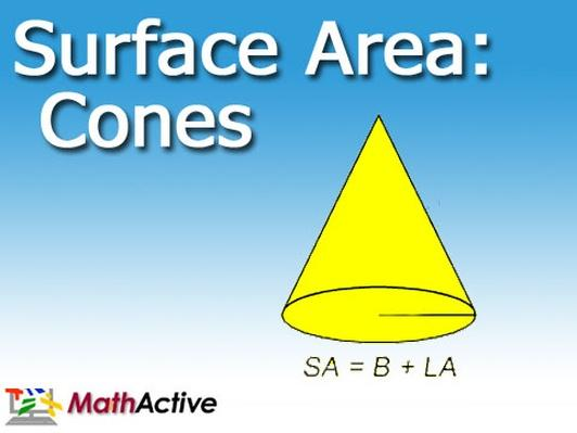 Surface Area of Cones Math