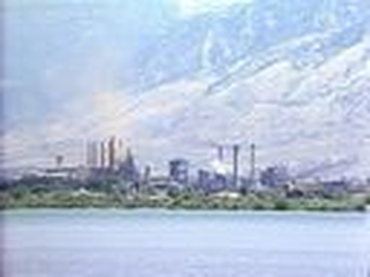 Manufacturing and Industry in Utah: Geneva Steel Seen from Utah Lake