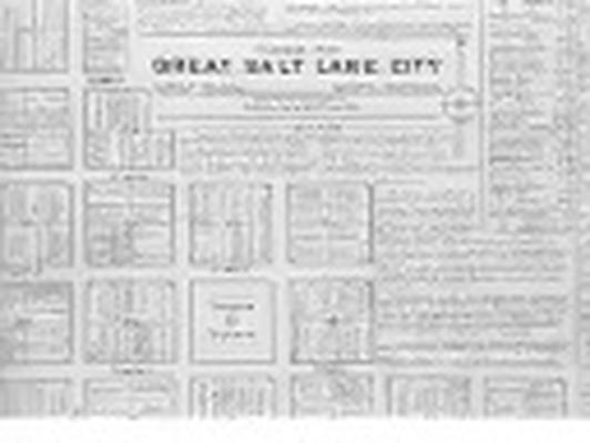 Planning and Settlement: Salt Lake Ward Boundary Planning 1849