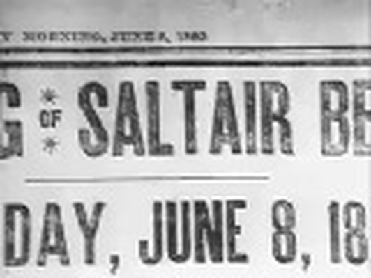 The Great Salt Lake: Montage of Saltair Resort, 1893