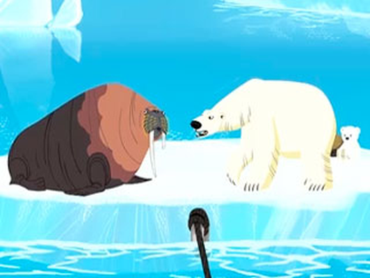 Mommy Rescue: Polar Bear and Walrus