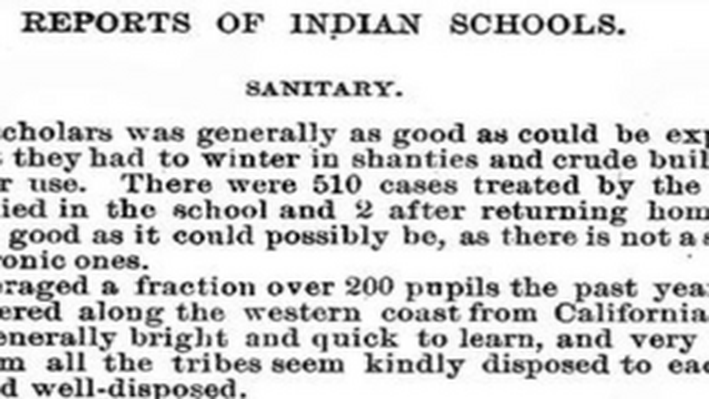 Reports of Indian Schools, 1886