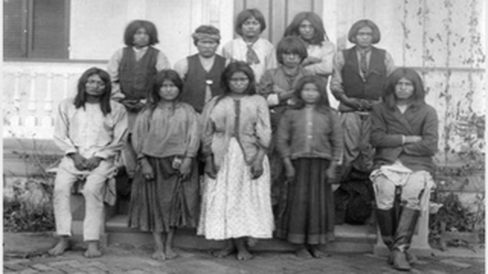 Chiricahua Apaches as they Arrived at Carlisle from Fort Marion, Florida