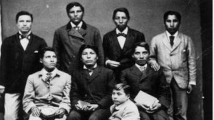 Group of Indian Boys from Dakota Territory