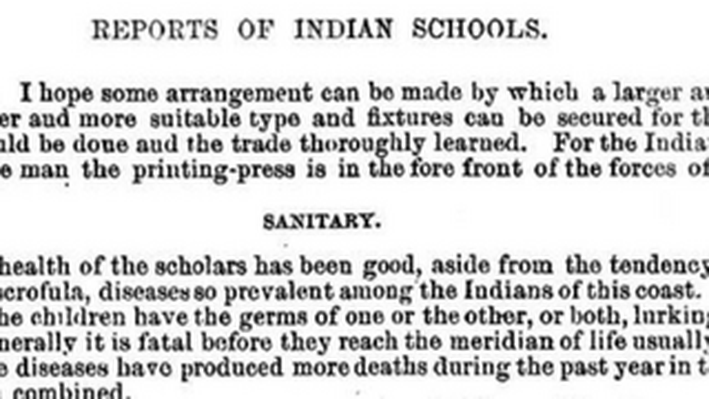 Reports of Indian Schools, 1887
