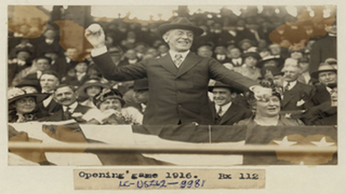 President Wilson Throwing First Pitch