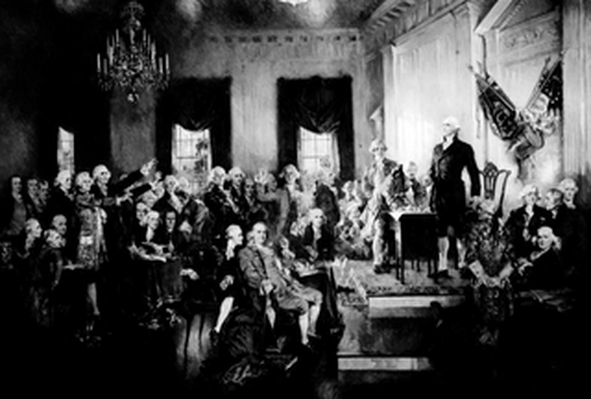 Scene from Signing of the Constitution