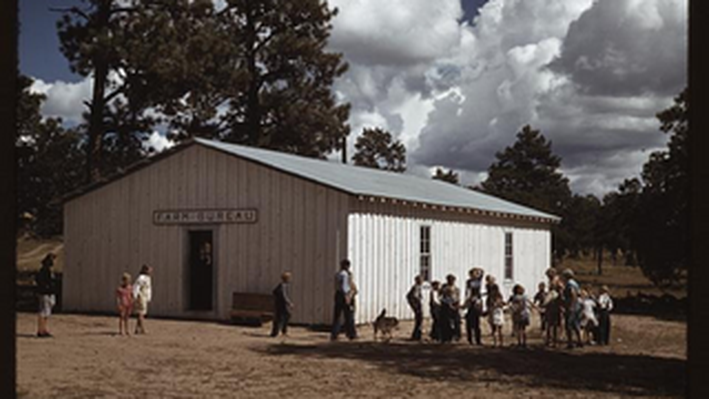 School at Pie Town, New Mexico