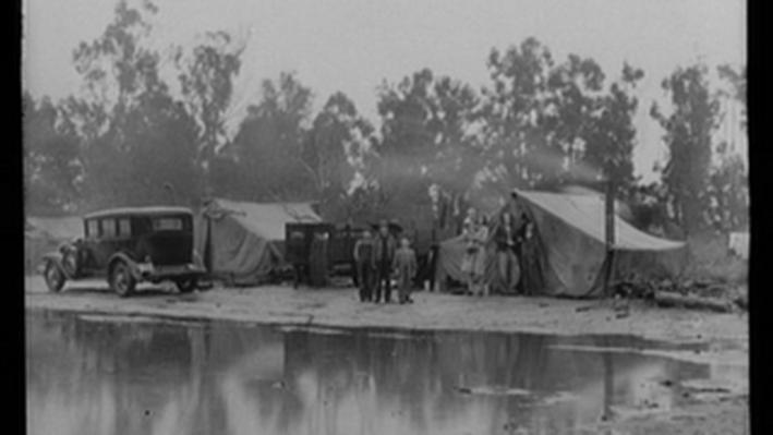 Migrant Pea Pickers Camp in the Rain