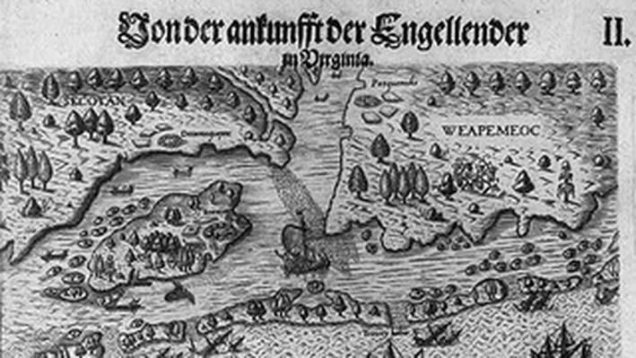 The Englishmen's Arrival in Virginia