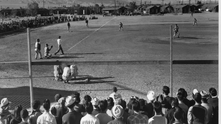 Baseball Game: Manzanar Relocation Ceter, California