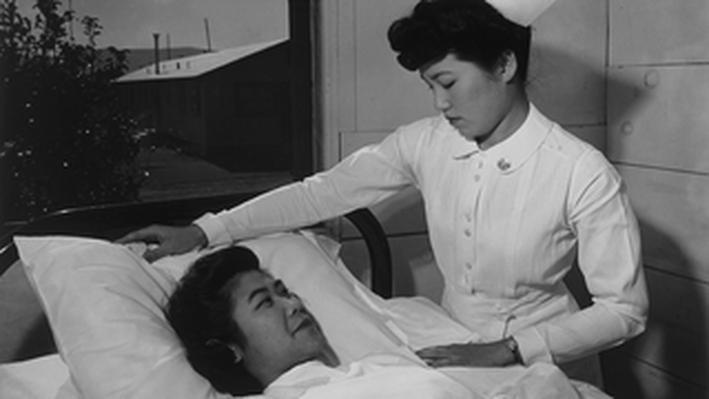 Nurse Aiko Hamaguchi and Patient Toyoko Ioki
