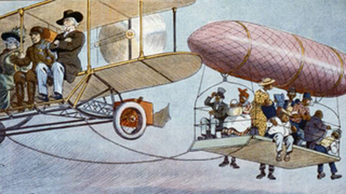 Airship with a Jim Crow Family