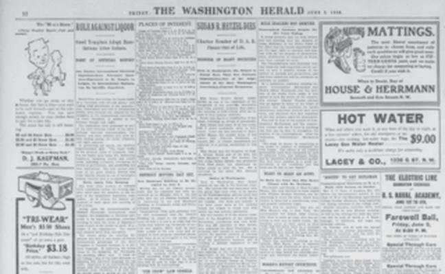 The Washington Herald: Jim Crow Law Upheld