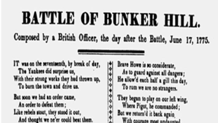 The American Revolution, 1763-1783: Battle of Bunker Hill