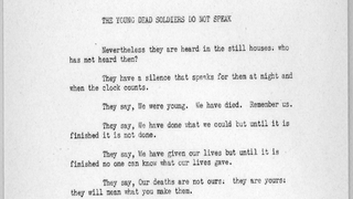 Postwar United States, 1945-1968: The Young Dead Soldiers