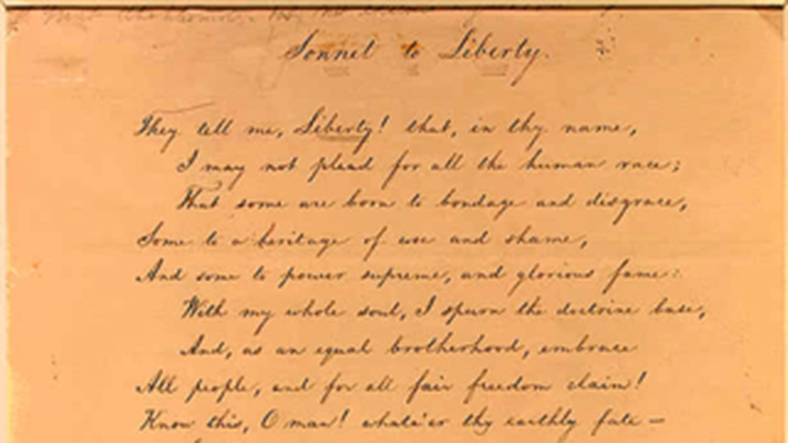 National Expansion and Reform, 1815-1860: Sonnet to Liberty