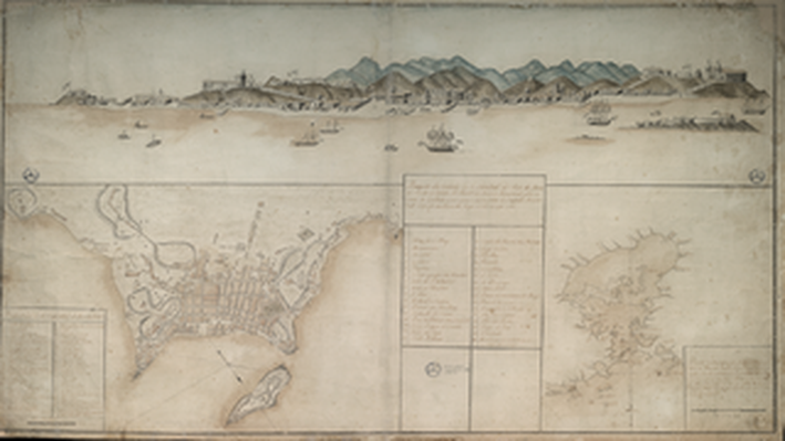 Hydrographic Map of the Famous Rio de Janeiro Bay Where the ão Sebastião City is Situated