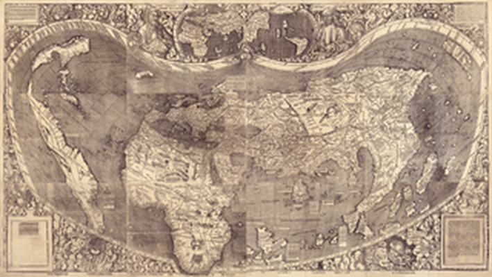 A Map of the Entire World According to the Traditional Method of Ptolemy and Corrected with Other Lands of Amerigo Vespucci