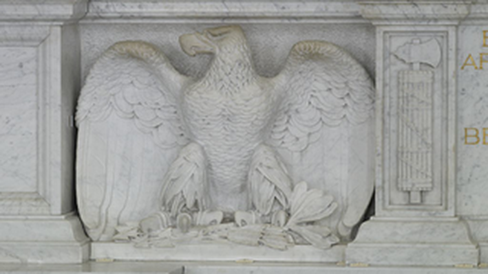 Great Hall: Detail of Eagle Carving, Library of Congress Thomas Jefferson Building, Washington, D.C
