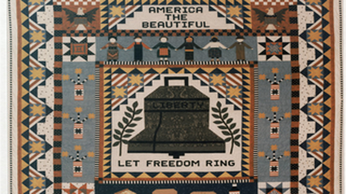 Liberty Bell Quilt: All American Medley Wyoming State Winner (1992)