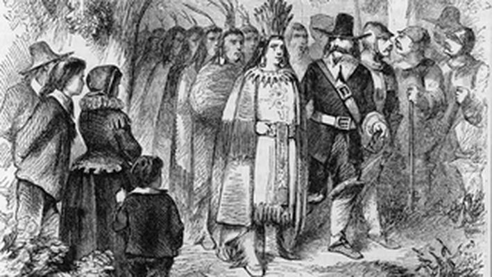 Landing of the Pilgrims (Massasoit and His Warriors)
