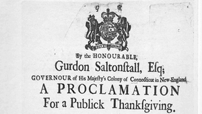 Proclamation for a Publick Thanksgiving, 1721