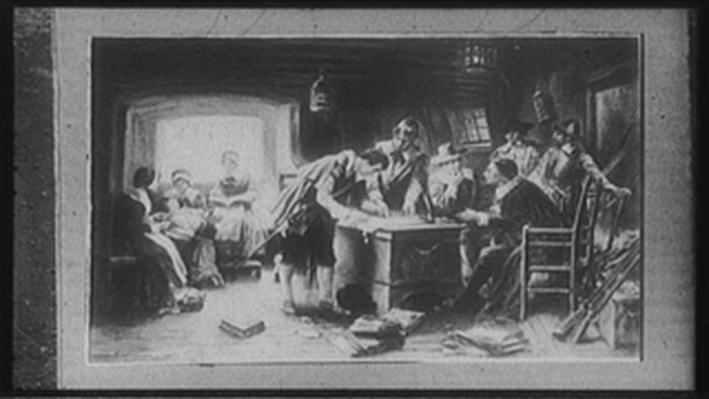 Signing of the Compact in the Cabin of the Mayflower