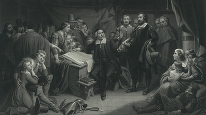 Pilgrims Signing the Compact on the Mayflower, 1620