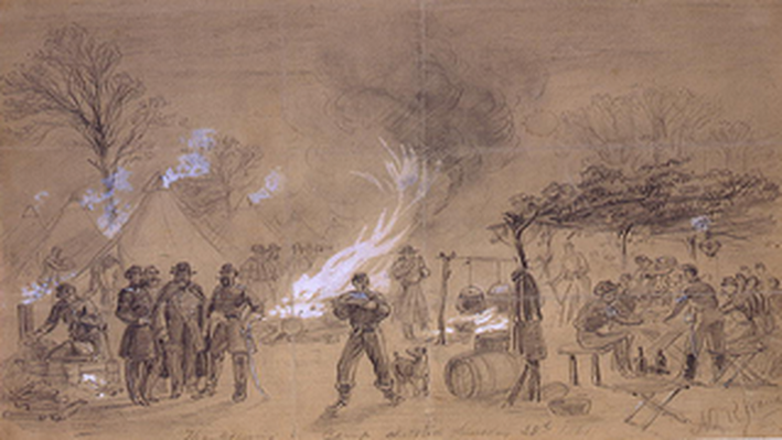 Thanksgiving in Camp, 1861