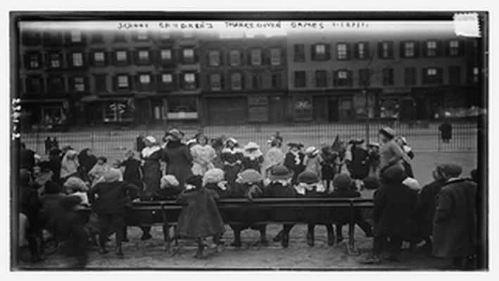 School Children's Thanksgiving Games, 1911