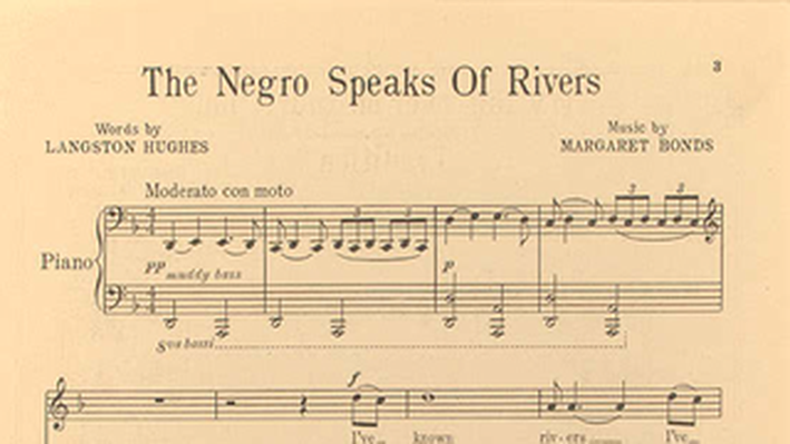 a review of langston hughes poem the negro speaks rivers Summary and analysis of the negro speaks of rivers by langston hughes   james mercer langston hughes was born in the year 1902 in.