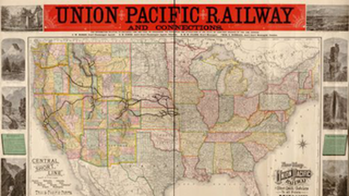 New Map of the Union Pacific Railway