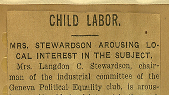Mrs. Langdon Stewardson Requests Funds for National Child Labor Committee