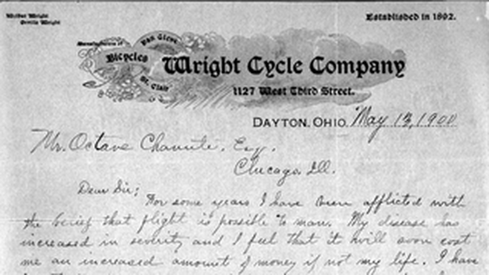 Wilbur Wright to Octave Chanute